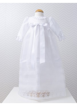 Christening gown with long sleeves