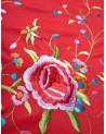 Mantón de manila bordado a máquina
